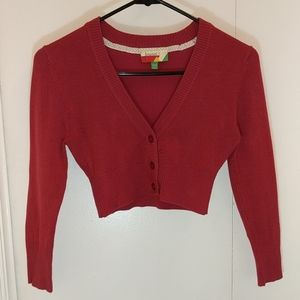 Modcloth Raspberry Crop Sweater XXS